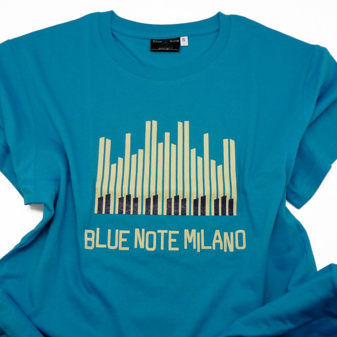 "T-Shirt Uomo ""Piano Solo "" (Celeste)"