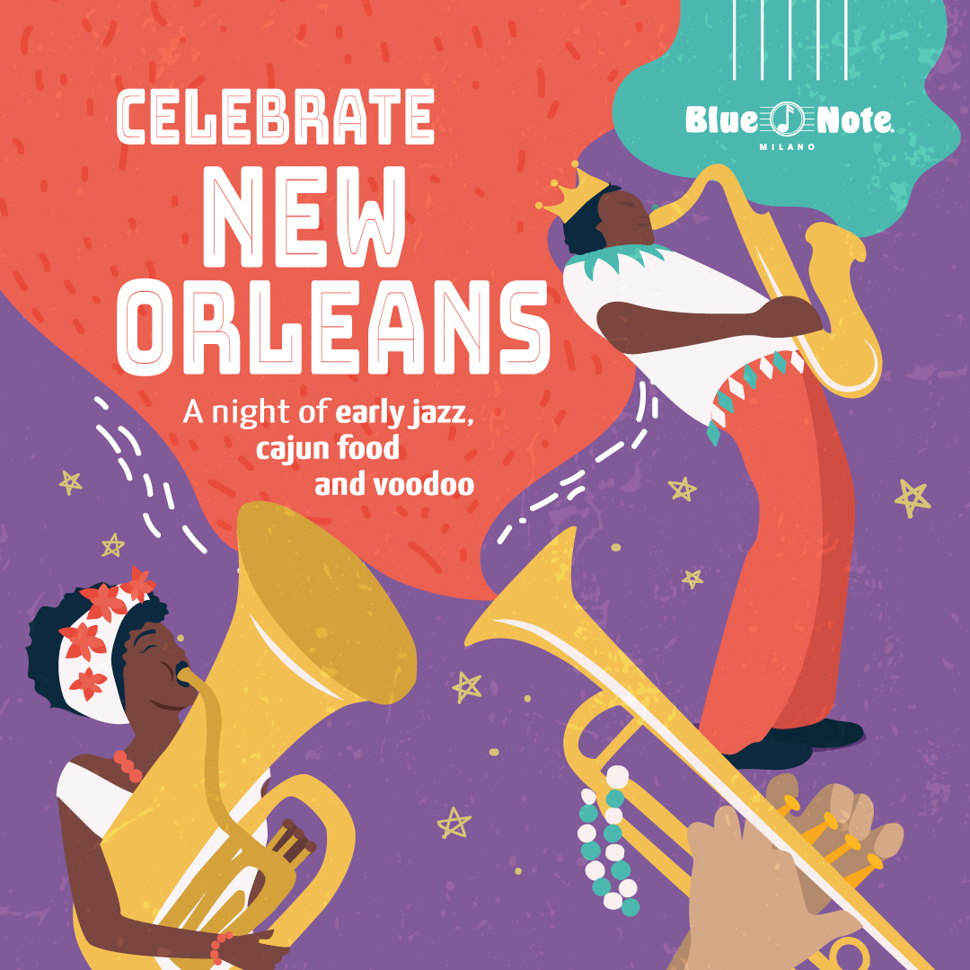 Celebrate New Orleans! A Night of Early Jazz, Cajun Food and Voodoo 21/04/2020 21.00