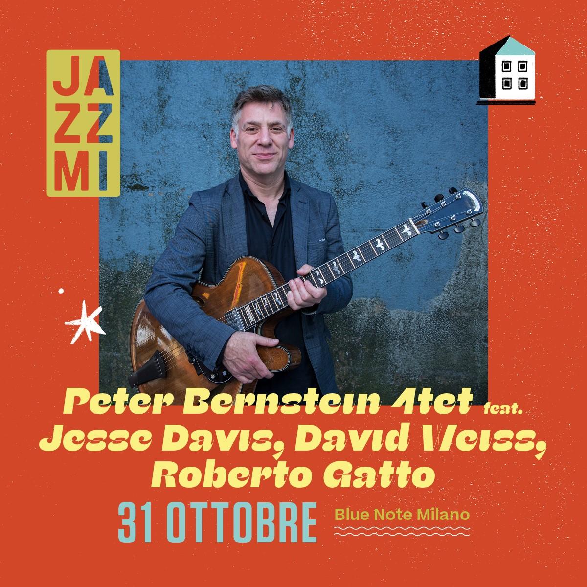 JAZZMI Peter Bernstein Quartet feat. Jesse Davis, Doug Weiss, Roberto Gatto 31/10/2021 20.30